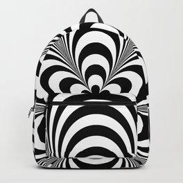 Op Art Flower Backpack