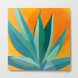 West Coast Sunset With Agave Metal Print