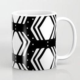 Hand Drawn Aztec Pattern on Balck Background Coffee Mug