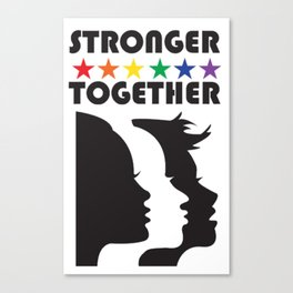 Women March Stronger Canvas Print