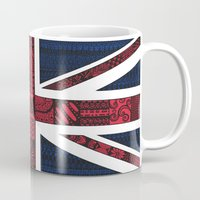 union jack Mugs featuring Union Jack by Sophie H.