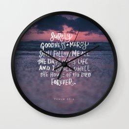 Goodness & Mercy Wall Clock