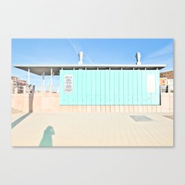 Mood In Blue - House and Architecture Canvas Print