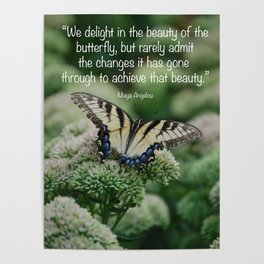 We delight in the beauty of the butterfly.... Poster