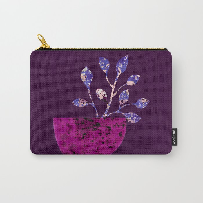 pot and branch on purple Carry-All Pouch