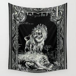 STRENGTH of Tarot Cat Wall Tapestry
