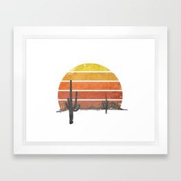 Running Into The Sun Framed Art Print