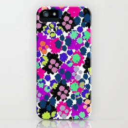 Overlayed blooms iPhone Case