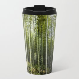 Bamboo Forest in Green Travel Mug