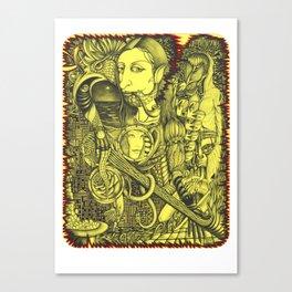 Black-and-yellow gap Canvas Print