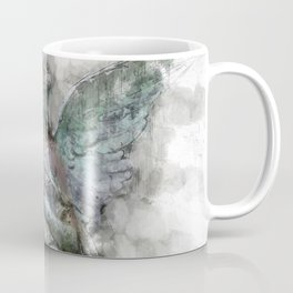 Angel statue painting - female Angel sculpture drawing Coffee Mug
