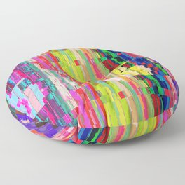 Colored Distortion Abstract Art Floor Pillow