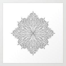 flower line art - white Art Print