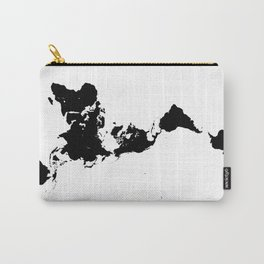 Dymaxion World Map (Fuller Projection Map) - Minimalist Black on White Carry-All Pouch
