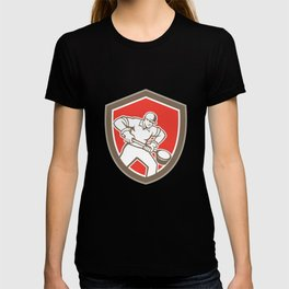 Foundry Worker Holding Ladle Retro T-shirt