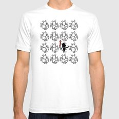 Haring - étoiles W. #2 SMALL White Mens Fitted Tee