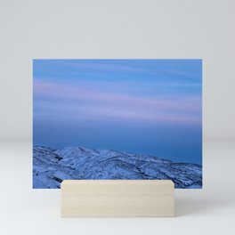 Snowy Mountain Climb Mini Art Print