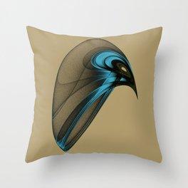 Fractal Bird with Sharp Beak Throw Pillow