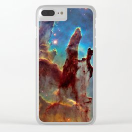picture of star by hubble: pilliers of the creation. Clear iPhone Case