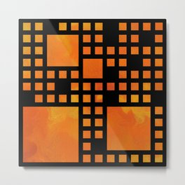 Visopolis V1 - orange flames Metal Print