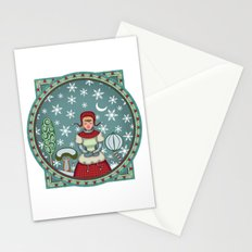 version of peaceful snow 2 Stationery Cards