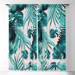 Tropical Jungle Leaves Dream #4 #tropical #decor #art #society6 Blackout Curtain