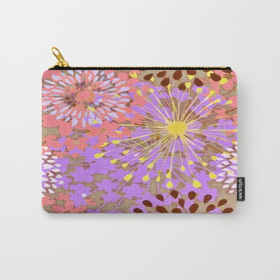 Bright Floral Explosion Abstract Carry-All Pouch