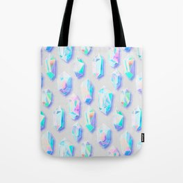 Iridescent Rainbow Crystals Tote Bag
