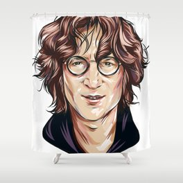 JohnLennon Shower Curtain
