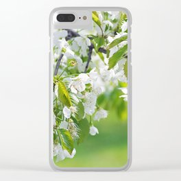 White cherry blossoms romance Clear iPhone Case