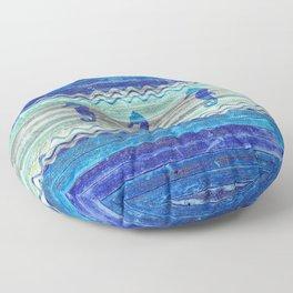Rustic Navy Blue Coastal Decor Seahorses Floor Pillow