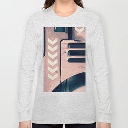 Road Roller Chevron - Industrial Abstract (everyday 17.01.2017) Long Sleeve T-shirt