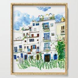 Dalt Vila houses from Ibiza - Calle de la Carrossa Serving Tray