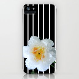 White Petals and Stripes II iPhone Case