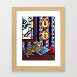 """""""Beloved Cat II"""" Framed Art Print"""