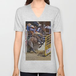 The Release - Rodeo Bronco Riding Unisex V-Neck