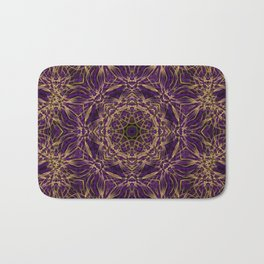 Purple Mandala Hippie Pattern Bath Mat