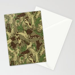 Leaping Cats - Camo Stationery Cards
