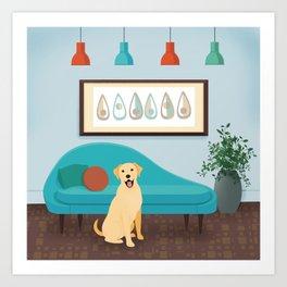 A Labrador Retriever Makes A House A Home Art Print