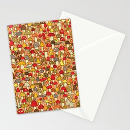 Mouse among mushrooms Stationery Cards