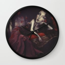 Christy and the butterflies  Wall Clock