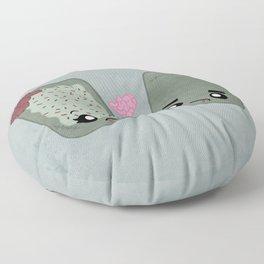 Zombie Toaster Pastry Love Floor Pillow