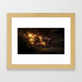 Firestorm Framed Art Print