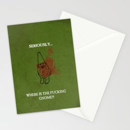Where is the freakin' gnome? Stationery Cards