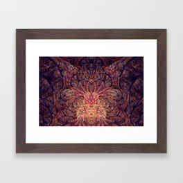 Floractal Energies Framed Art Print