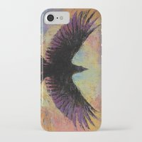 crow iPhone & iPod Cases featuring Crow by Michael Creese