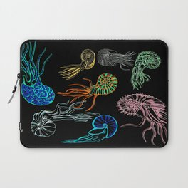 Ammonites at Night Laptop Sleeve