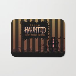 Be it ever so Haunted, there's no place like Home - Brown Bath Mat