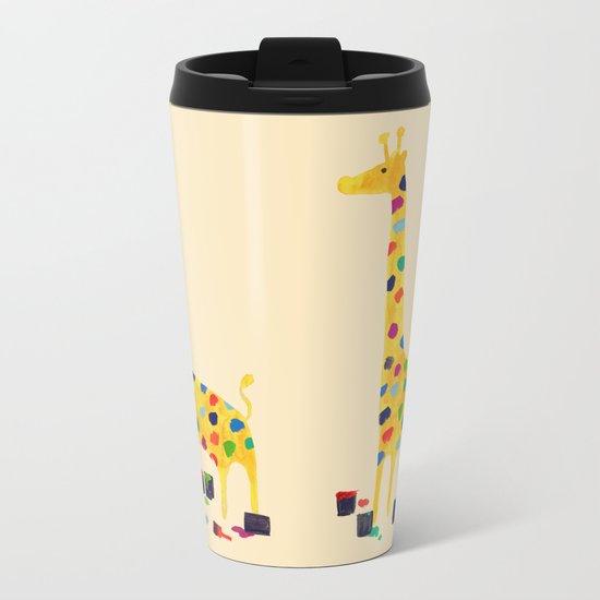 Paint by number giraffe Metal Travel Mug