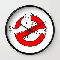 ghostbusters Wall Clocks featuring ghostbusters by tshirtsz